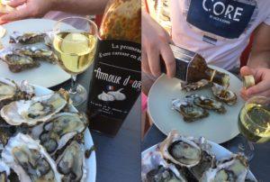 huîtres avec la sauce Amour d'ail