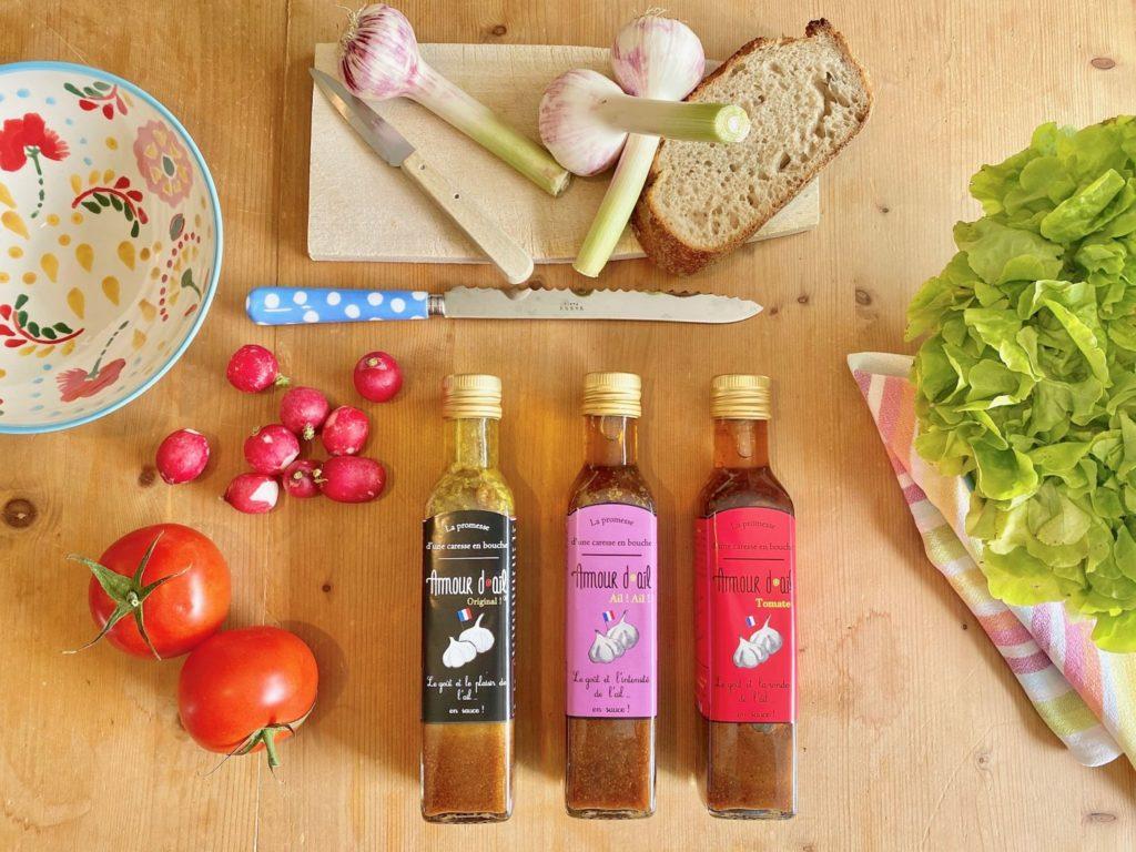 Amour d'ail sauce vinaigrette France